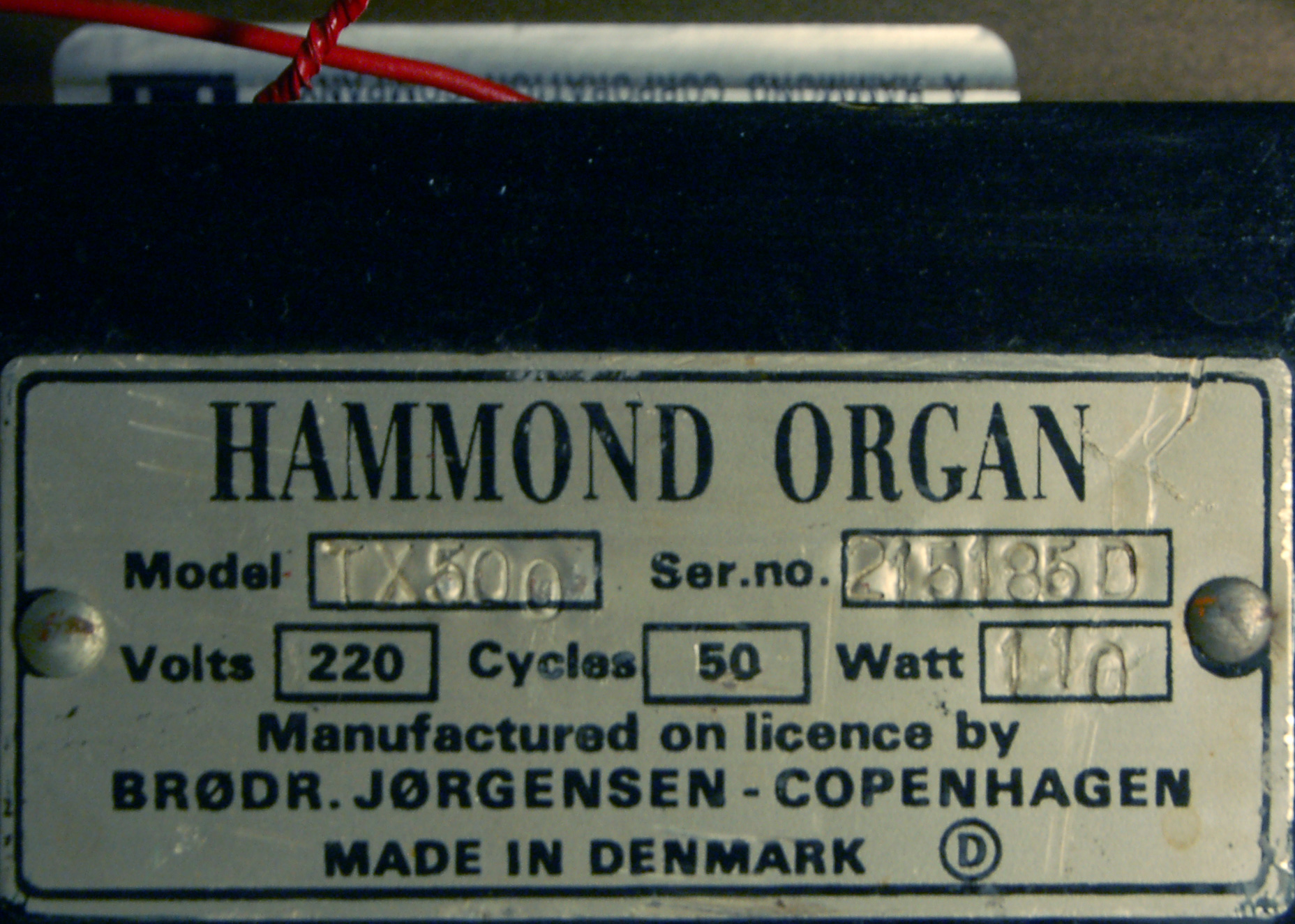 hammond b3 serial number dating Hammond's early big attempt at a portable b3  equipped with hammond vibrato providing three degrees  front, back, leslie plate and the serial plate.